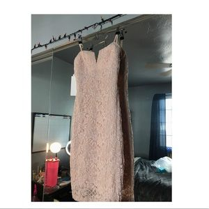 Blush slip dress.